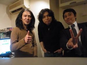 元レベッカの山田貢司さんと木暮SHAKE毅彦さんとの1枚