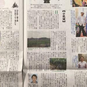 神奈川新聞でお城の連載が始まりました