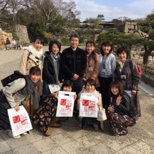 3/4 ラジオ関西9人のパーソナリティと明石城を歩く