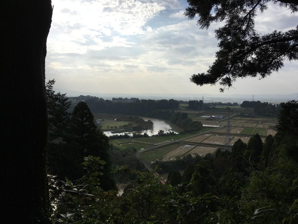 増山城一の丸からの眺め1
