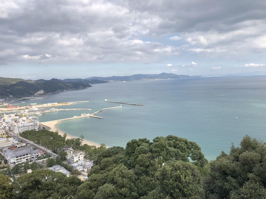 洲本城本丸からの眺め