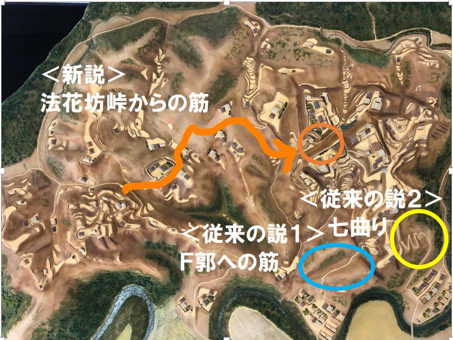 増山城の大手筋の新説